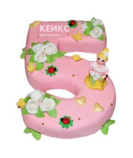 Торт с цифрой для девочки 7