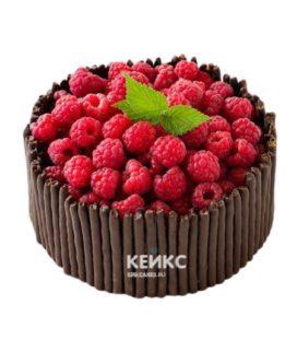 Торт с малиной 4