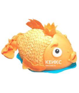 Торт Золотая рыбка 9