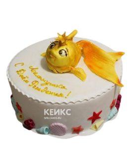 Торт Золотая рыбка 7