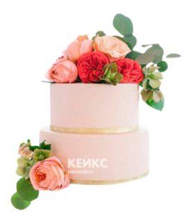 Весенний свадебный торт 1