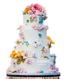 Весенний свадебный торт 10