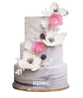 Весенний свадебный торт 11