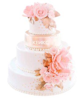 Весенний свадебный торт 12