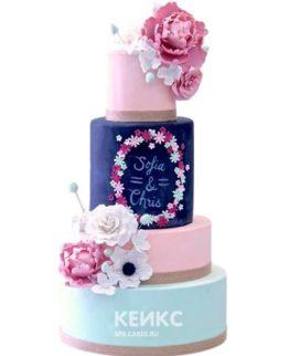Весенний свадебный торт 3