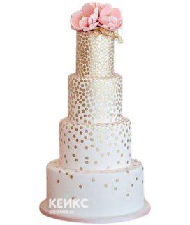 Весенний свадебный торт 4
