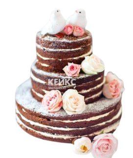 Весенний свадебный торт 5