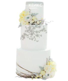 Весенний свадебный торт 6