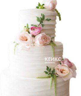 Весенний свадебный торт 8