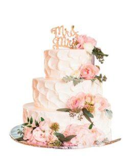 Весенний свадебный торт 9