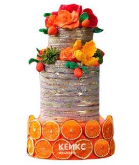 Торт Зимний свадебный 10