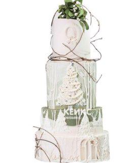 Торт Зимний свадебный 12