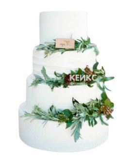 Торт Зимний свадебный 14