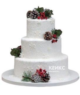 Торт Зимний свадебный