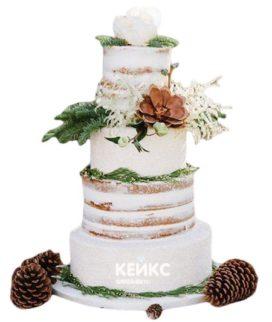 Торт Зимний свадебный 4