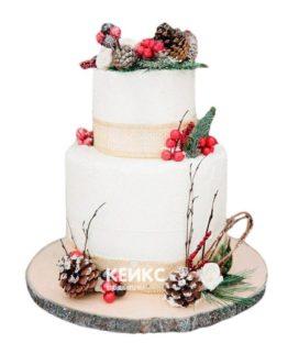 Торт Зимний свадебный 5