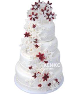 Торт Зимний свадебный 6