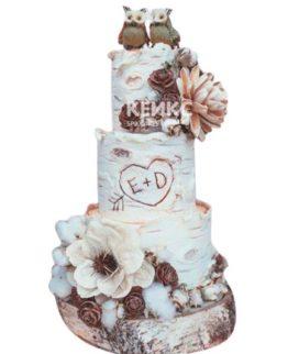 Торт Зимний свадебный 9