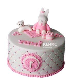 Торт бело-розовый 1