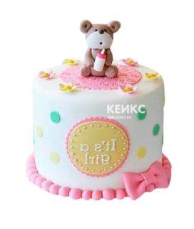 Торт бело-розовый 17