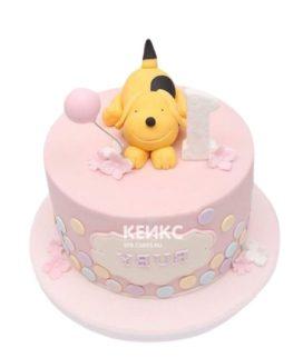 Торт бело-розовый 3