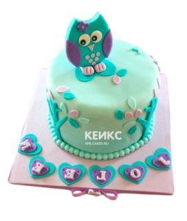 Торт бирюзовый 3