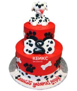 Торт красно-белый 2