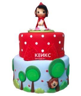 Торт красно-белый 5
