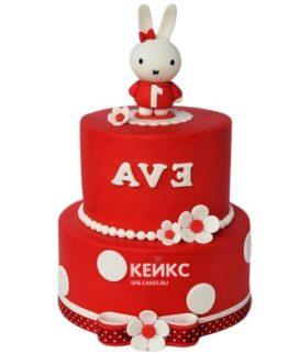 Торт красно-белый 6