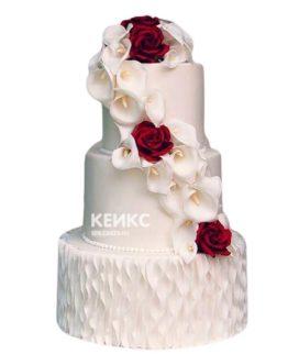Свадебный торт бордовый 20