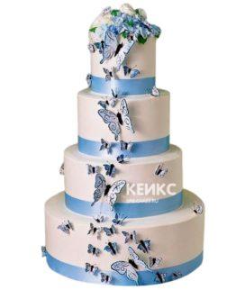 Свадебный торт с бабочками 11