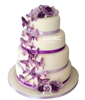 Свадебный торт с бабочками 19