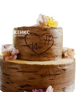 Свадебный торт с инициалами 15