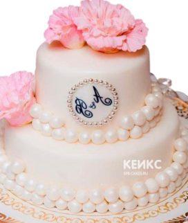 Свадебный торт с инициалами 16
