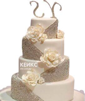 Свадебный торт с инициалами 19