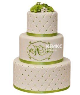 Свадебный торт с инициалами 20