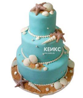 Свадебный торт в морском стиле 1