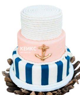 Свадебный торт в морском стиле 10