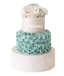 Свадебный торт в морском стиле 11