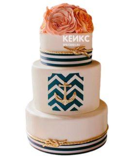Свадебный торт в морском стиле 12