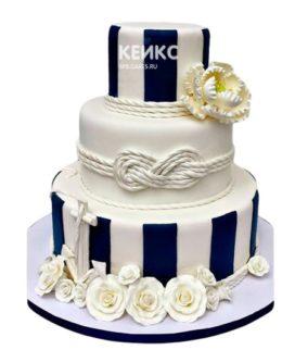 Свадебный торт в морском стиле 14