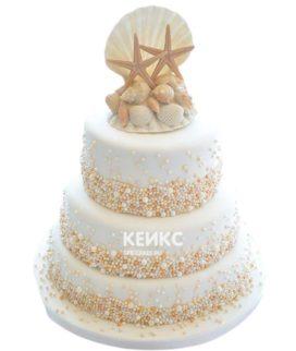 Свадебный торт в морском стиле 15