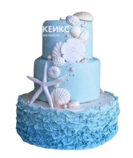 Свадебный торт в морском стиле 16