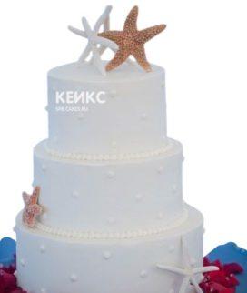 Свадебный торт в морском стиле 2