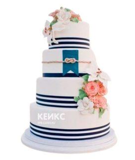 Свадебный торт в морском стиле 3