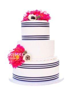 Свадебный торт в морском стиле 4