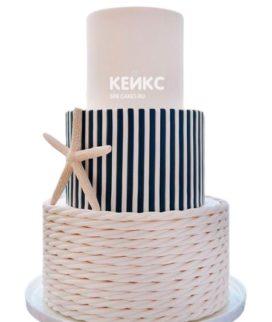 Свадебный торт в морском стиле 6