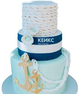 Свадебный торт в морском стиле 7