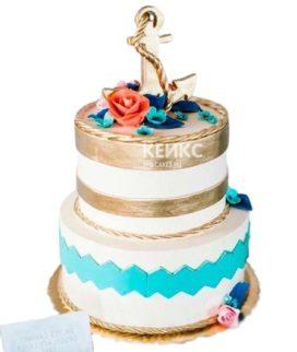Свадебный торт в морском стиле 8