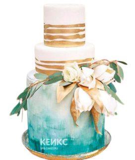 Свадебный торт в морском стиле 9